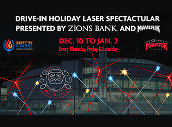 Drive-In Holiday Laser Spectacular Presented by Zions Bank & Maverik - 8:00 PM
